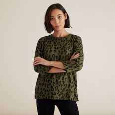 Ocelot Top  RICH OLIVE OCELOT  hi-res