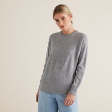 Flecked Sweater  STEEL GREY MARLE  hi-res