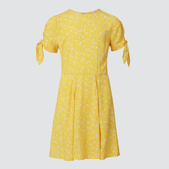 Tied Sleeve Dress  FADED BUTTERCUP  hi-res