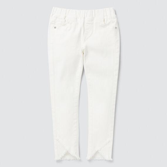 Petal Hem Jeans  WHITE  hi-res