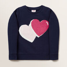 Heart Windcheater  NAVY  hi-res