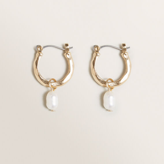 Drop Pearl Earrings by Seed Heritage