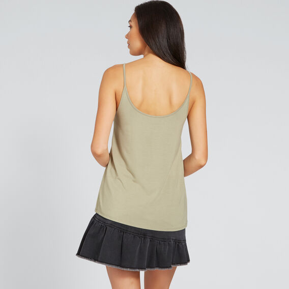 Two-Way Jersey Cami  WASHED OLIVE  hi-res