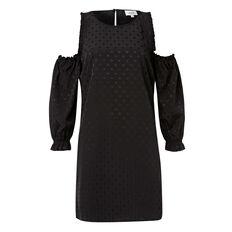 Jacquard Lurex Spot Dress  BLACK  hi-res