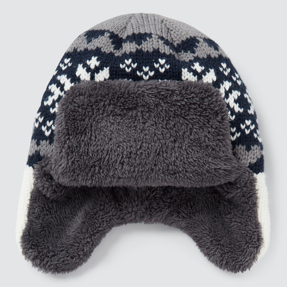 Fairisle Trapper Hat  MIDNIGHT BLUE  hi-res