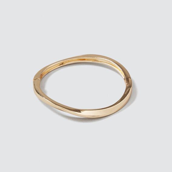 Twist Hinge Bangle  GOLD  hi-res