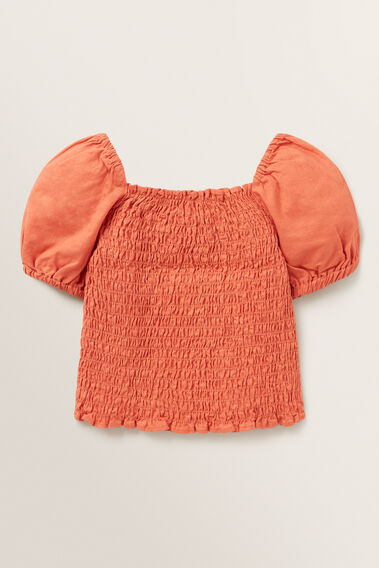 Shirred Bodice Top  GINGER SPICE  hi-res