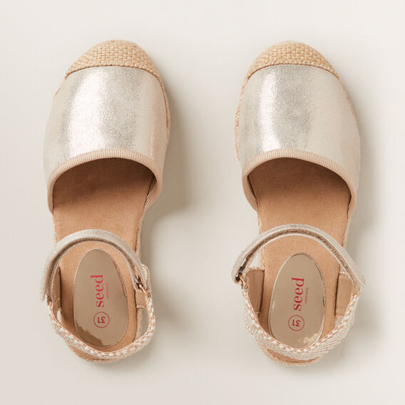 Metallic Espadrille  GOLD  hi-res