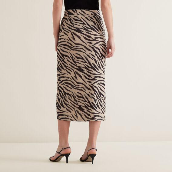 Sketchy Zebra Skirt  ZEBRA PRINT  hi-res