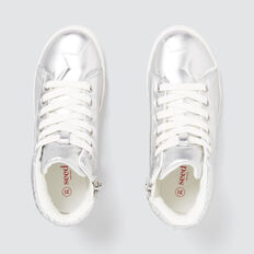 Quilted High-top Sneaker  SILVER  hi-res