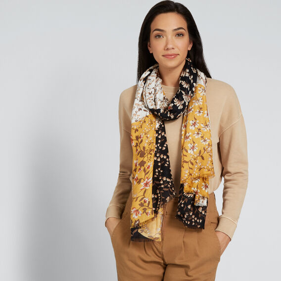Spliced Floral Scarf  MULTI  hi-res