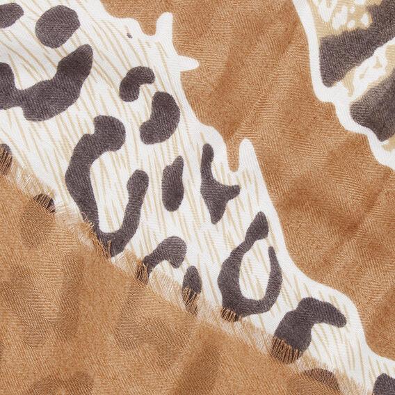 Animal Print Scarf  GINGERBREAD/BLACK  hi-res