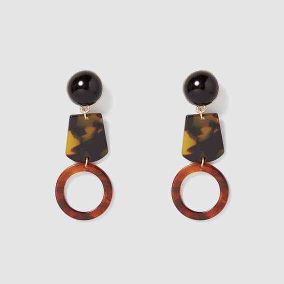 Contrast Drop Earrings  MULTI  hi-res