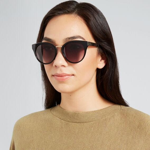 Portia Round Sunglasses  BLACK  hi-res