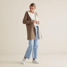 Hooded Cardigan  WALNUT/FRENCH VANILA  hi-res