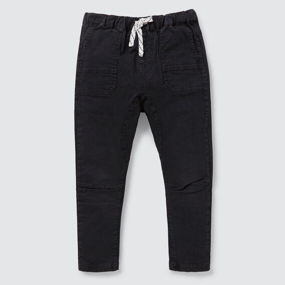 Tapered Leg Pant  WASHED BLACK  hi-res