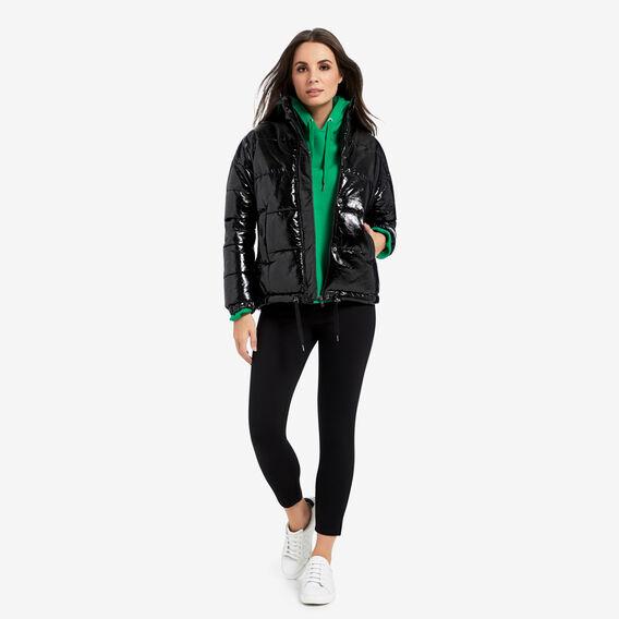 Coated Puffa Jacket  BLACK  hi-res