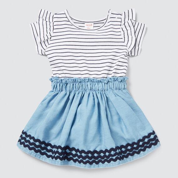 Splice Stripe Dress  MULTI  hi-res