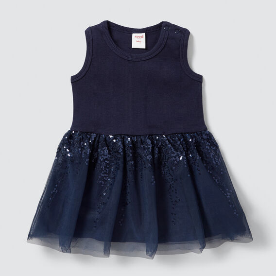 Rib Tutu Dress  NAVY  hi-res