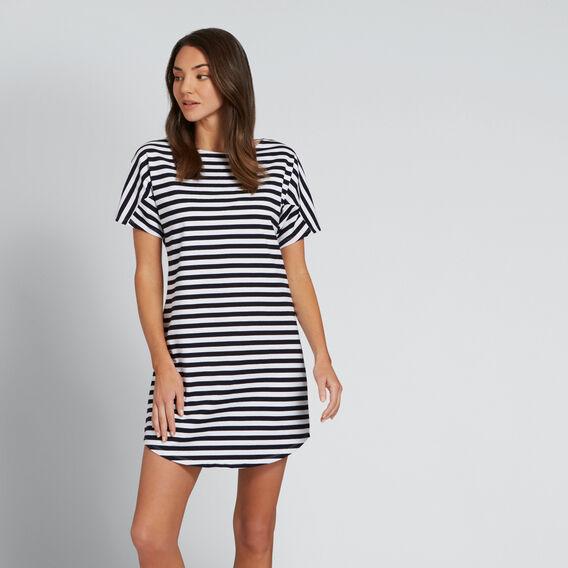 Basic Stripe Dress  DEEP NAVY STRIPE  hi-res