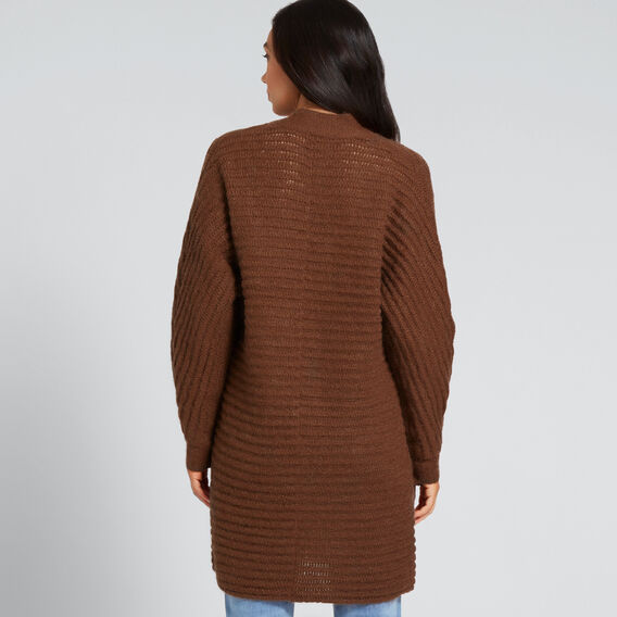 Linear Stitch Cardigan  BURNT TOFFEE  hi-res