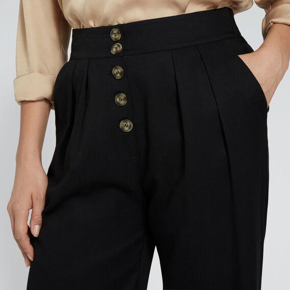 High Waist Soft Pant  BLACK  hi-res