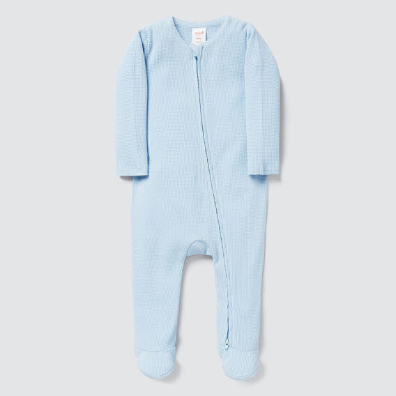 Waffle Zipsuit - (Available in 00000)  DUSK BLUE  hi-res