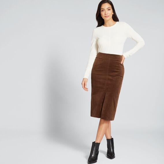 Corduroy Skirt  BURNT TOFFEE  hi-res