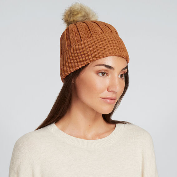 Simple Rib Beanie  VINTAGE BRONZE  hi-res
