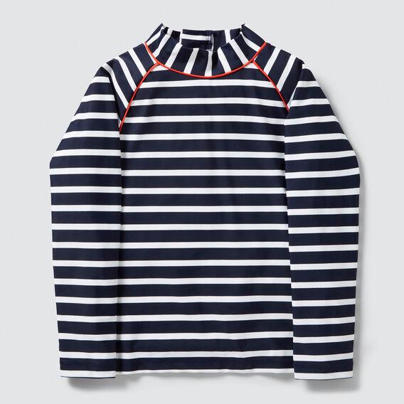 Stripe Zip Up Rashie  MIDNIGHT BLUE  hi-res