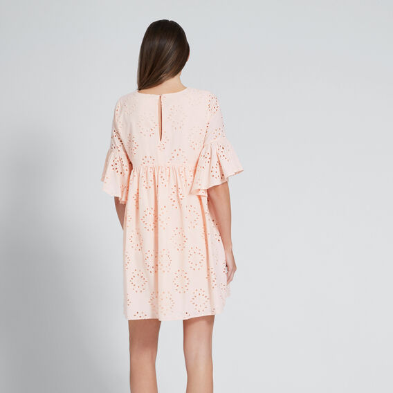 Broderie Lace Dress  PEACH NOUGAT  hi-res