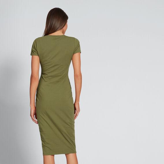 Twist Front Dress  OLIVINE  hi-res