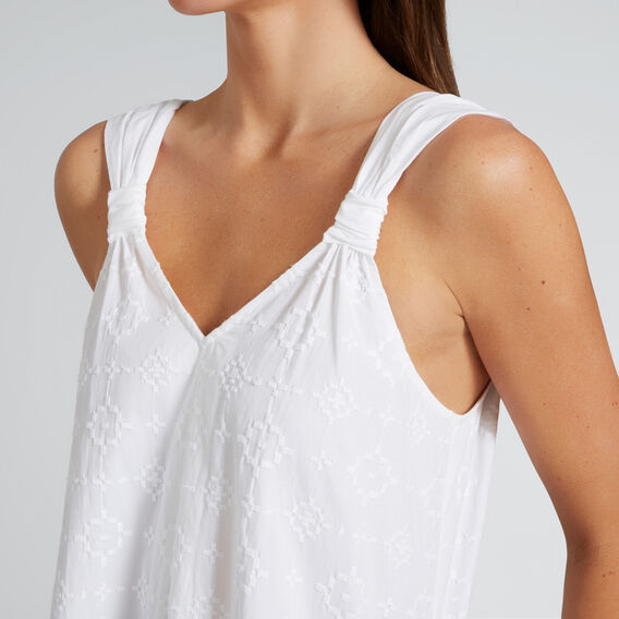 Embroidered Maxi Dress  WHISPER WHITE  hi-res