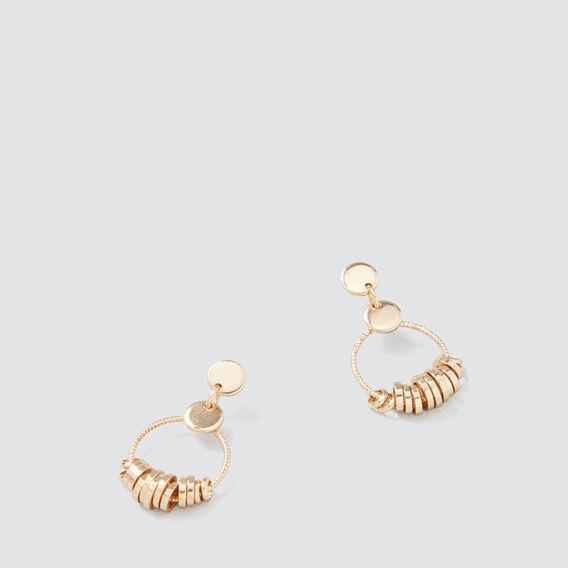 Mini Rings Earrings  GOLD  hi-res