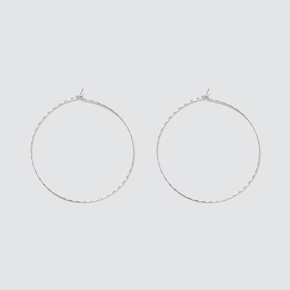 Light Hoop Earrings  SILVER  hi-res