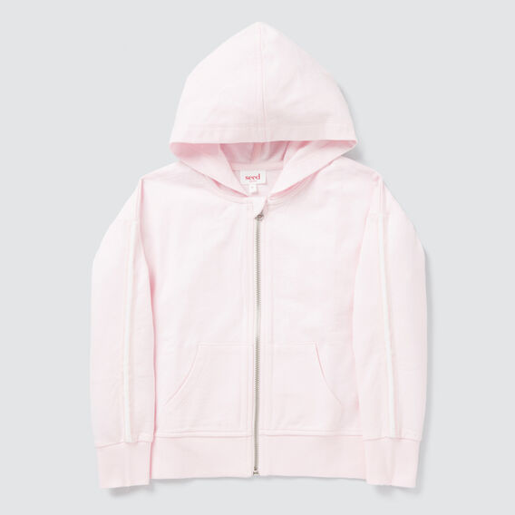 Side Stripe Zip Hoodie  ICE PINK  hi-res