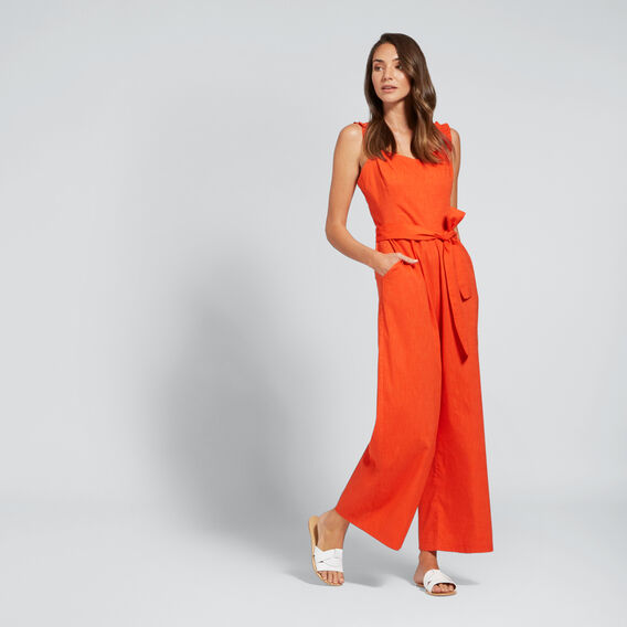 Fitted Jumpsuit  SPANISH RED  hi-res