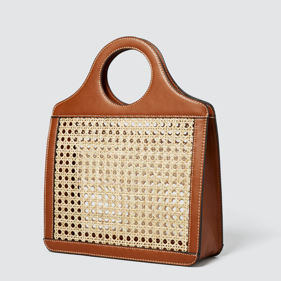 Rattan Tote  NATURAL/ TAN  hi-res