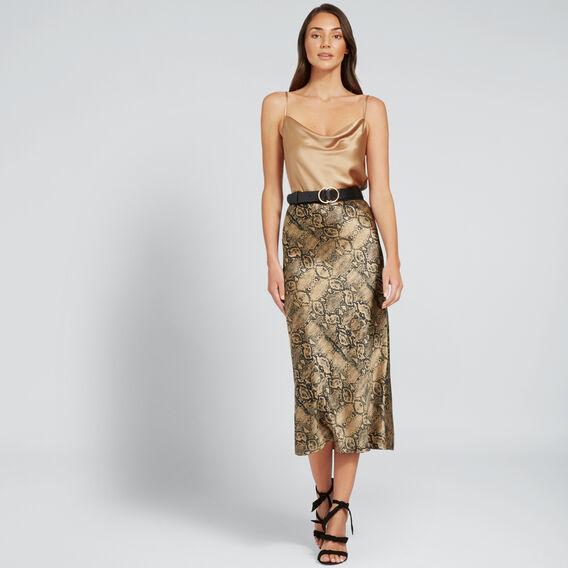 Snake Print Skirt  SNAKE PRINT  hi-res