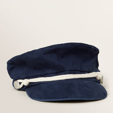 Rope Trim Fisherman Cap  MIDNIGHT BLUE  hi-res