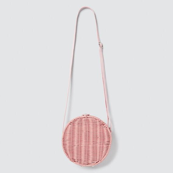 Wicker Circle Bag  PINK  hi-res