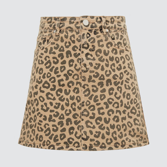 Ocelot Denim Skirt  OCELOT  hi-res