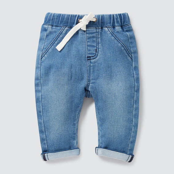 Denim Terry Roll Jean  VINTAGE BLUE  hi-res