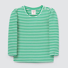 Puff Sleeve Tee  APPLE GREEN/CANVAS  hi-res