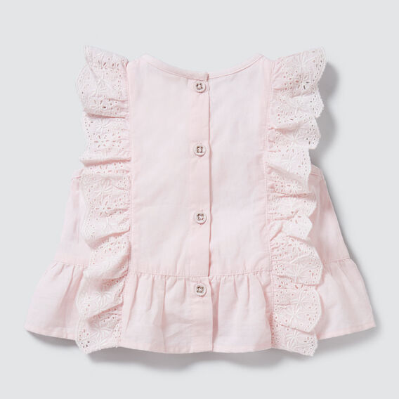 Broderie Frill Top  ICE PINK  hi-res
