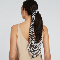 Skinny Print Scarf  CREAM/BLACK  hi-res