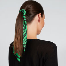 Thin Scarf  WASHED GREEN/BLACK  hi-res