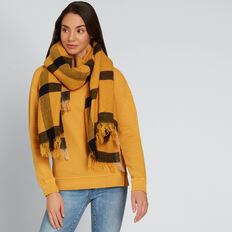 Picnic Check Scarf  GOLDEN MUSTARD  hi-res