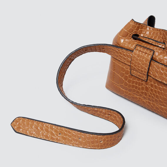 Mini Belt Bucket Bag  TAN CROC  hi-res