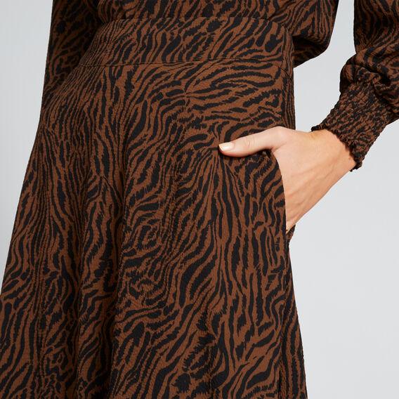 Textured Zebra Skirt  ZEBRA PRINT  hi-res